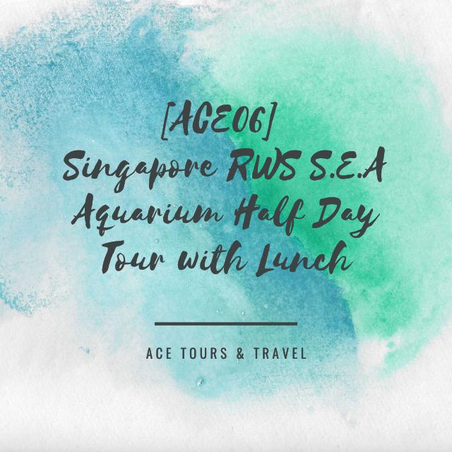 [ACE06] Singapore RWS S.E.A Aquarium Half Day Tour with Lunch